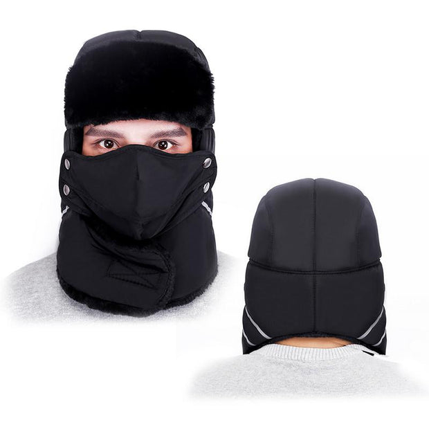 Ear Protection Face Bomber Hats Thicker Plus Velvet Warm Man Woman Outdoor Supplies Winter Hat Resist The Snow Male Cap Ski Hat