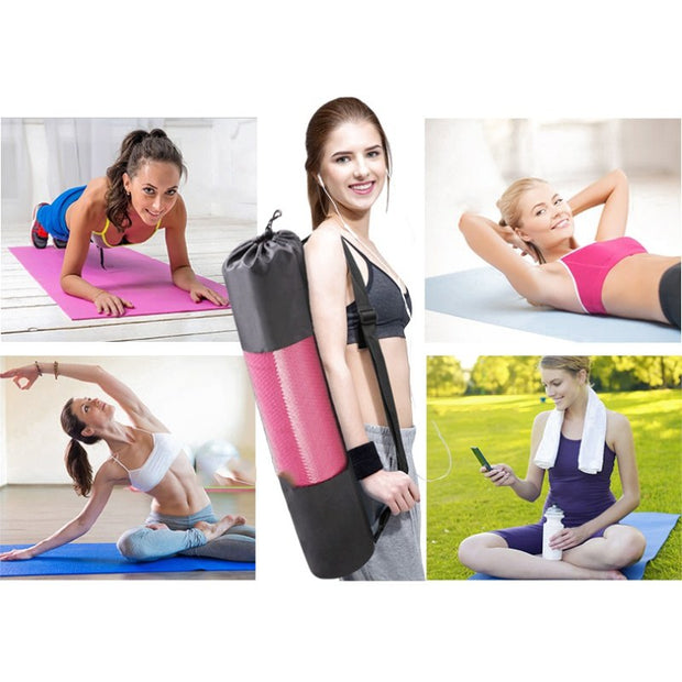 *Exercise Pad Yoga Pad Extra Large Size (L X W: 68x24 Inches) 6 MM Thick Non-slip Gym Fitness Pilates Supplies Camping Gym New