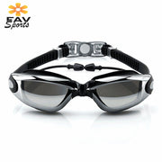 FAVSPORTS Multicolor Swim Googles Silicone Swim Eyewear Anti-Fog Glasses For Swimming Goggles Adult With Earplugs Diving Glasses