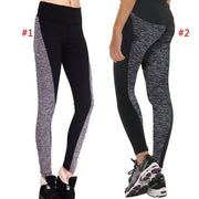 Fashion Women Fitness Leggings Workout Yoga Pants Panelled High Waist Quick-drying Wear Trousers ASD88