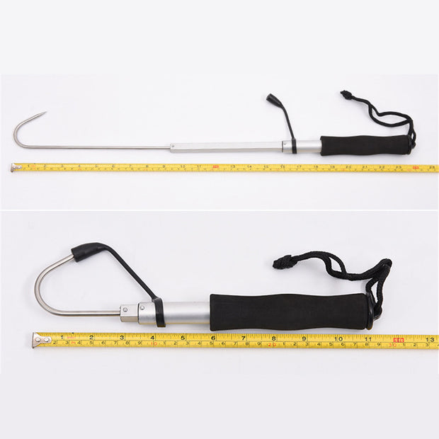 Fishing Hook Stainless Steel Flexible Fishing Finder 60/120cm Gaff Grip Holder Hook Spear Crank Carp Fishing Tackle Tool BigGame