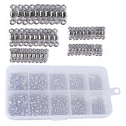 Fishing Swivels 500pcs/lot 4# 6# 8# 10# 12# Rolling Swivel Connector For Fishing Hooks 8 Shape Fishing Tackle Accessories