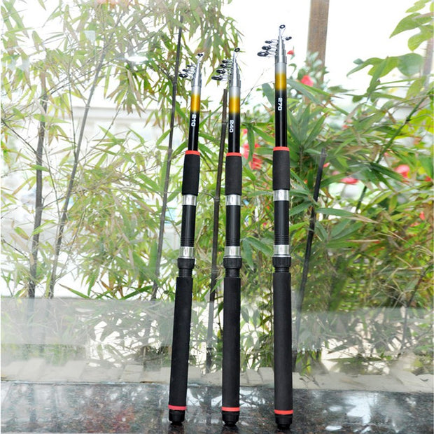 Fishing Tackle Lure Fishing Rod 2.1M 2.4M 2.7M Spinning Casting Rod Telescopic Carp Pole Sea Ocean Lake Fish Glass Fiber Hot