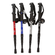 Fishsunday Shock Hiking Walking Trekking Trail Poles Stick Adjustable Canes 4-SectionsTo Prevent The Waist Injury July 10