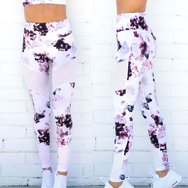 Fitness Yoga Sports Leggings For Women Sports Tight Mesh Print Yoga Leggings Yoga Pants Women Running Pants Tights For Women