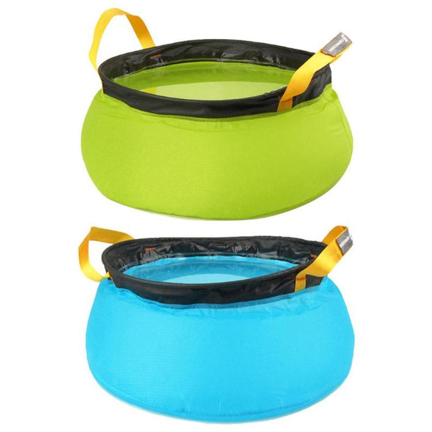 Folding Washbasin Portable Outdoor Travel Camping Water Bucket Basin Bag
