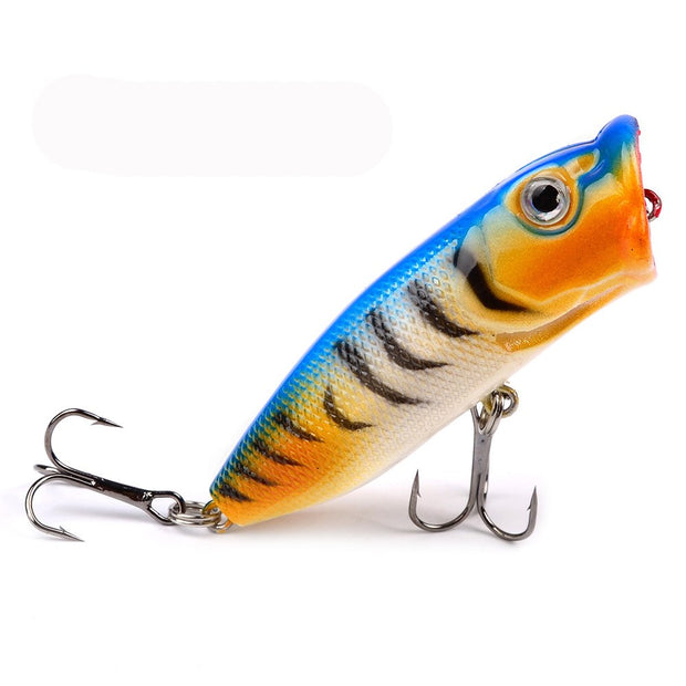 GLEEGLING 6Pcs/Lot Popper Lure Fishing 7cm 11.36g Lure Esche Artificiali Pesca Spinning For Top Water Lure Spinnerbait POL03