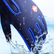 GLEEGLING Winter Water Repellent Fishing Gloves Finger Protector Fishing Hiking Skiing Cycling Gloves Fishing Accessories