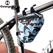 GeorgeM Bike Bag Bicycle Front Frame Top Tube Phone Holder Triangle Pouch Frame Holder MTB Road Bike Bycicle Bag Accessories