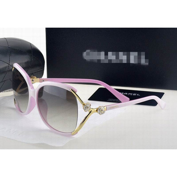 Good Quality Large Size Sunglasses Sun Glasses For Ladies TAC Lens PC And Metal Bracket With Logo No. 7023