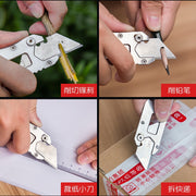 H1072 Outdoor Multi-purpose Opener Screwdriver Wrench Tungsten Head Portable Mini Paper Cutting Art Knife EDC Gadget