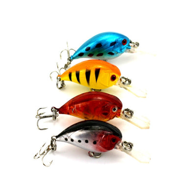 HENGJIA 5.5CM 4.6G 10# Hooks Smaller Wobbler Lures Fishing Tackle,plastic Crank Fishing Hard Bait,4 Color 20pcs/lot