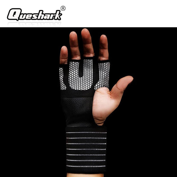 Half-finger Weightlifting Gloves Non-slip Sports Fitness Training Gloves Men Crossfit Wrist Support Dumbell Bodybuilding Gloves