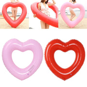 Heart Shape Inflatable Swimming Ring Pool Float Giant Mattress For Water Fun Toy Swimming Ring