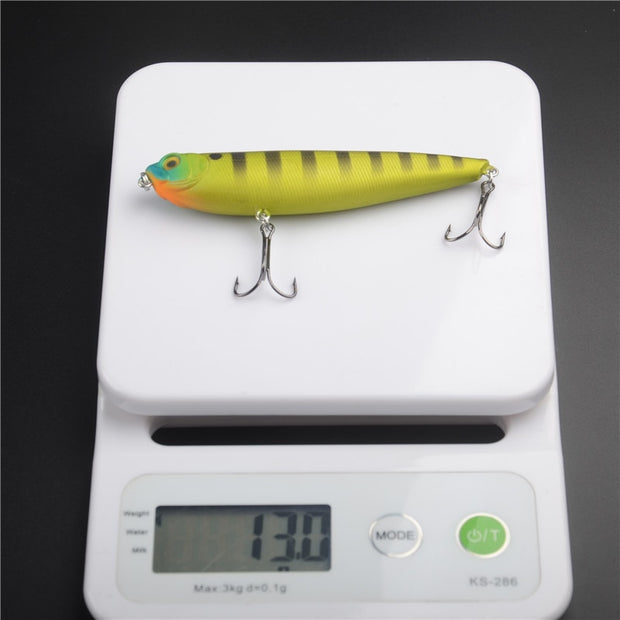 Hi.Whale 100 Mm/13g Fishing Lure Floating Crankbait Sea Bass Pike Lure Pencil Bait Freshwater Fishing Lures Artificial Bait