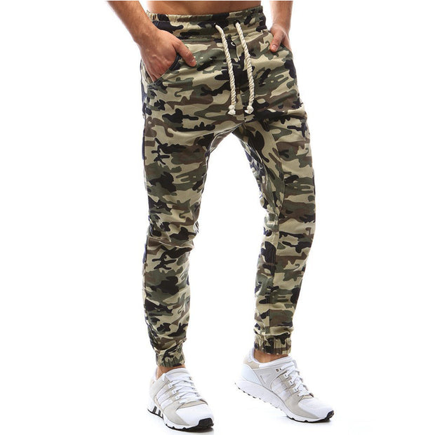 High Quality Jogger Camouflage Gyms Running Pants Men Fitness Bodybuilding Gyms Pants Runners Clothing Sweatpants Plus Size 4XL