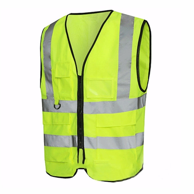 High Visibility Reflective Vest Working Clothes Motorcycle Cycling Vest Sports Outdoor Reflective Safety Clothing
