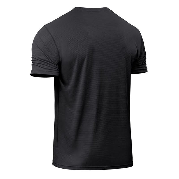 High-elastic Running Shirt Fitness Tight Men\'s Quick Dry Compression Short Sleeve T-Shirts Tennis Soccer Gym Tight-fitting Tops