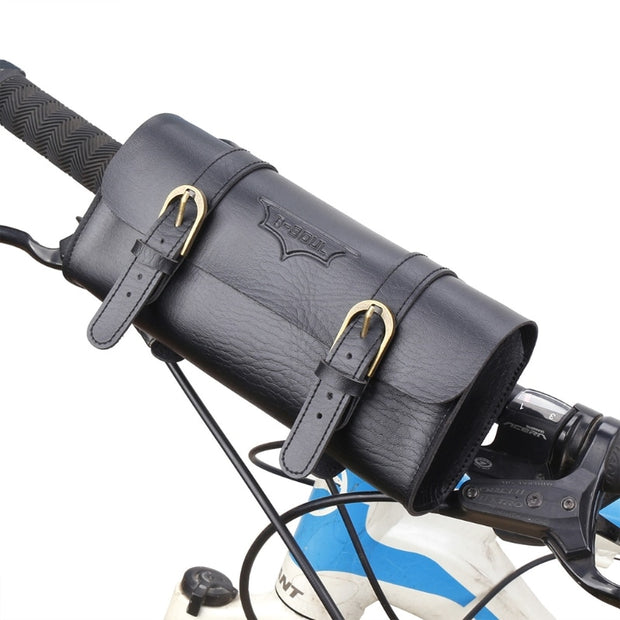 High Quality Cycling Bag Faux Leather Bicycle Tail Rear Saddlebag Vintage Retro Bike Pannier