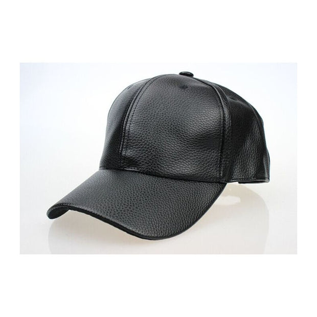 High Quality Fall Winter Men Leather Hat Cap Snapback Hat Men's Baseball Cap Wholesale For 2019 New Fashion