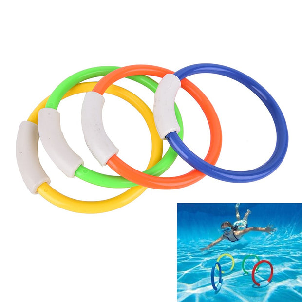 Hot 4Pcs Dive Rings Swimming Pool Diving Game Summer Kid Underwater Diving Ring Sport Diving Buoys Four Loaded Throwing Toys