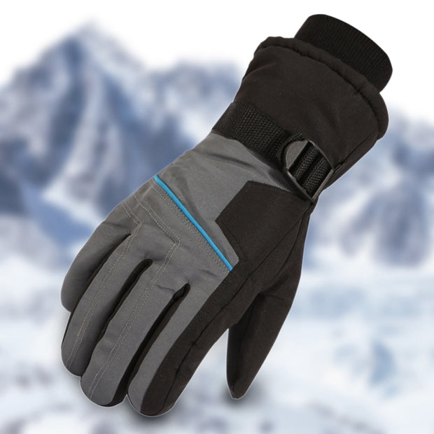 Hot Extra Thick Ski Gloves Winter Snow Outdoor Sport Men Warm Snowmobile Motorcycle Waterproof Snowboard