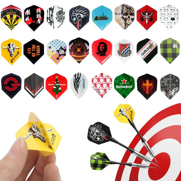 Hot Sale 34x44mm 72Pcs Mixed Darts Flights PET Random Style Entertainment Games Parties Professional Tail For Dart Lovers