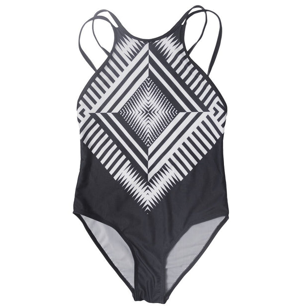 Hot Swimwear Bikini Push Up Pad Bikini Brazilian Print Swimsuit Swimwear Women Swimsuit Bathing Suit Blackwhite Bikini 2017