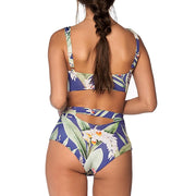 ISHOWTIENDA Women Sexy Print Fashion Push-Up Padded Bra Beach Bikini Set Maillot De Bain Swimsuit Hight Waist Swimwear Biquini