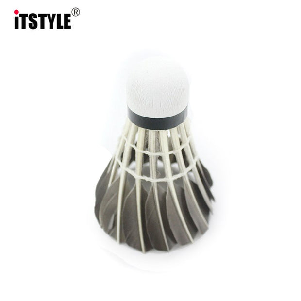 ITSTYLE 12pcs/lot Goose Feather Shuttlecock Cork Tournament Sport Resistant Badminton Ball