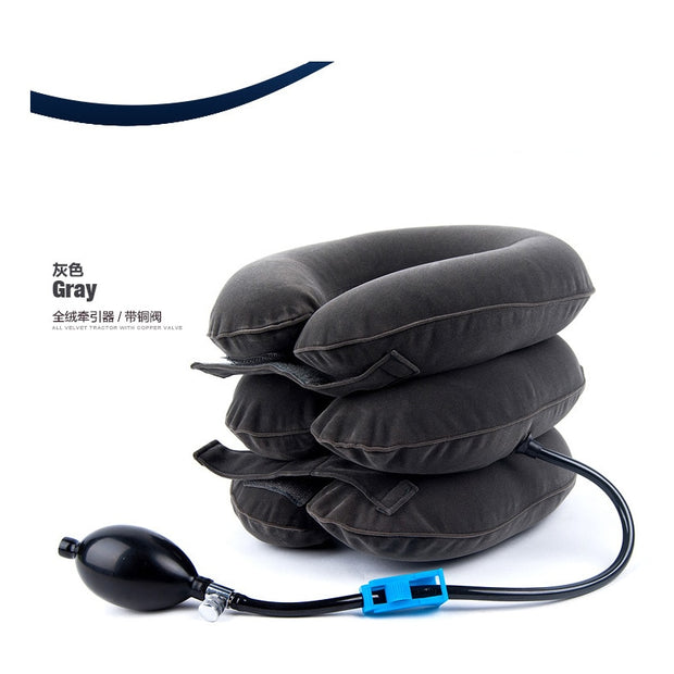 Inflatable Air Cervical Neck Traction Neck Support Soft Brace Device Unit For Headache Head Back Shoulder Neck Pain