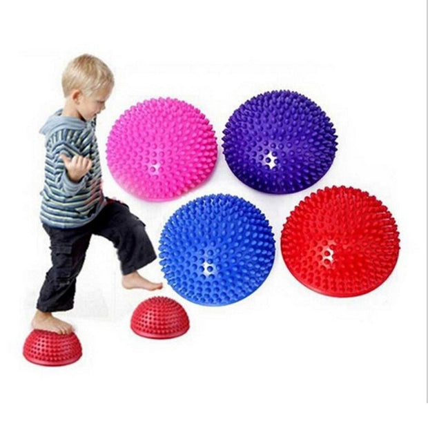 Inflatable Half Yoga Ball Exercise Fitness Equipment Balance Training Board Point Massage Ball Board For Children