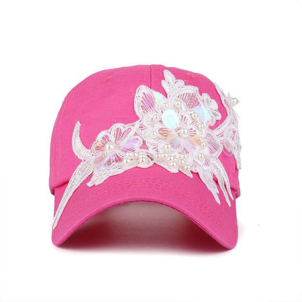JAMONT 2018 Spring New Fashion Women Baseball Cap With Flower Embroidery Adjustable Leisure Casual Snapback HAT B446