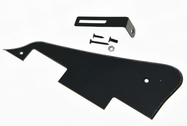 KAISH Black 1 Ply With Black Bracket LP Guitar Pickguard Scratch Plate Fits LP