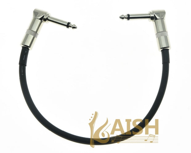 KAISH Kaish Black Right Angle 30cm/12'' Mono Guitar Effect Pedal Cable Effects Patch Cord