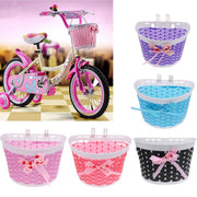 Kids Rubber Bulb Bike Air Horn Bugle With Front Basket Shopping Holder For Girls Bicycle Scooter Pink Purple