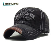 LANHUIFD Branded Snapback Caps Men Baseball Cap Unisex Retro M Letter Hip Hop Hat Women Casual Adjustable Dad Hat Bone Masculino