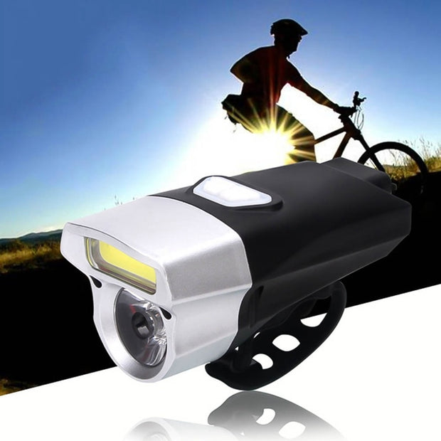 LED Bike Cycling Front Rear Tail Light 3modes High/Flash/Strobe +5LED Taillight Night MTB Bicycle Light By AAA Battery