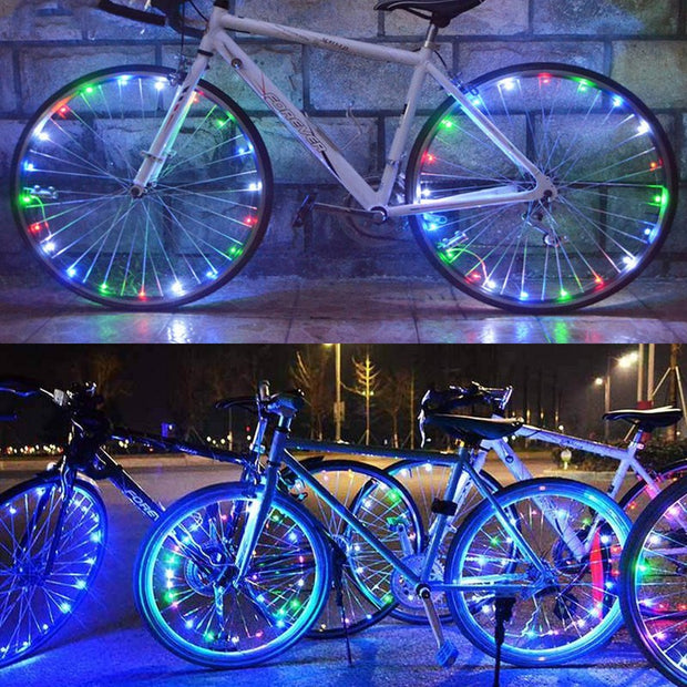 LED Colorful Bicycle Lights Mountain Bike Light Cycling Spoke Wheel Lamp Bike Accessories Luces Led Bicicleta Bisiklet