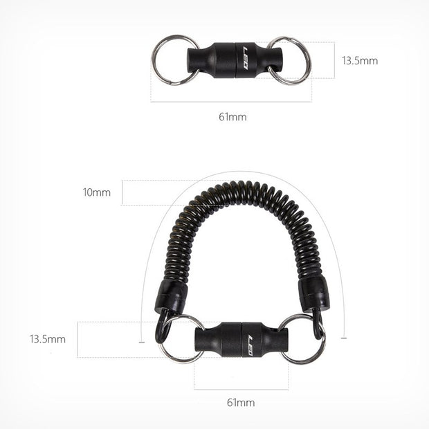 LEO 1pcs Fly Fishing Magnetic Hanging Buckle With Spring Line Release Net Holder Buckle Fish Control Accessories Tackle Tools