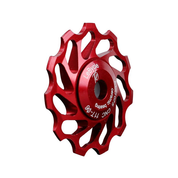 LeBycle-11T Bike Rear Derailleur Pulley MTB Roller Idler Mountain Road Bicycle Ceramics Bearings 7005 Aluminum Alloy Wheel Parts