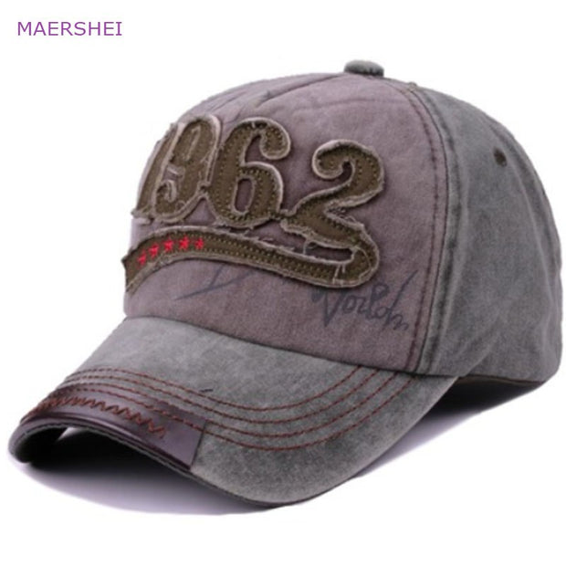 MAERSHEI Men's Baseball Cap Sanpback Wash Student Hip-Hop 1962 Letter Ladies Outdoor Fashion Joker Cap Cotton Truck Driver Hat