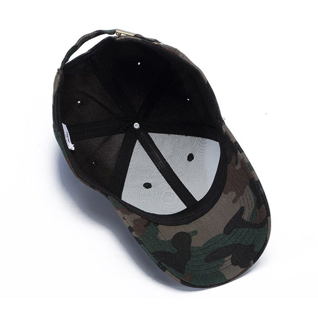 MNKNCL High Quality Unisex Camouflage Outdoor Baseball Cap Skull Embroidery Snapback Fashion Sports Hats For Men & Women Caps