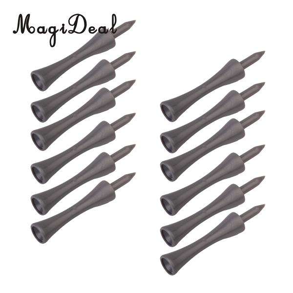 MagiDeal Durable Plastic 50Pcs Golf Tee Double-deck Grey Tee SN005 70MM For Indoor Light Golf Games Acce Golfers Gift Wholesale