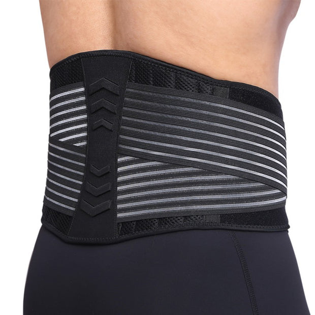 Men Sports Fitness Waist Support Adjustable Support Lower Back Belt Brace Pain Relief Sports Protection Waist New