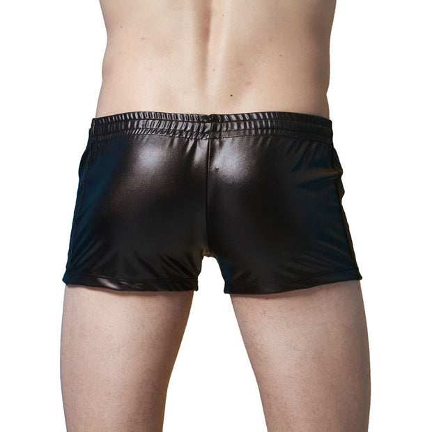 Men Swimwear Sexy Mens Swim Shorts Patent Leather Sunga Beach Surf Men's Shorts For Swimming Boxer Short De Bain Homme Badehose