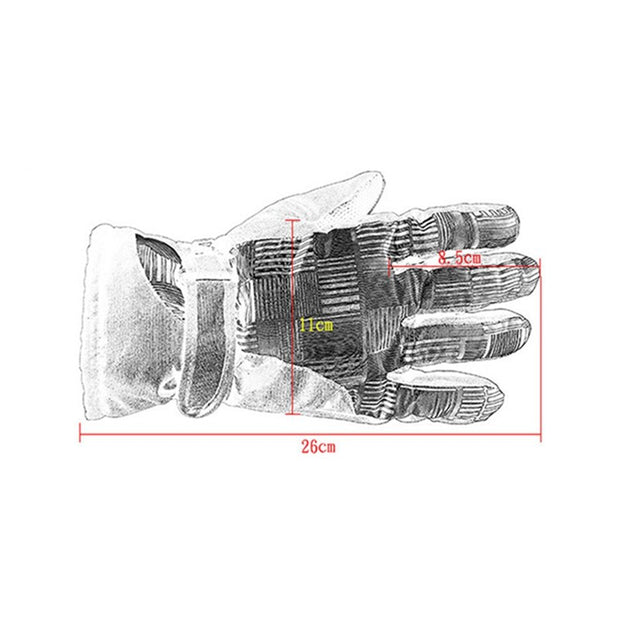 Men Women Winter Warm Full Finger Gloves Skate Sports Gloves Anti-slip Windproof Skiing Climbing Camping Snowball Fight Gloves