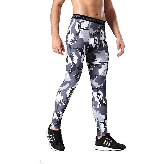 Mens Sports Pants Compression Breathable Tights Men's Quick-drying Pants Outdoor Running Training Fitness Pants Leggings