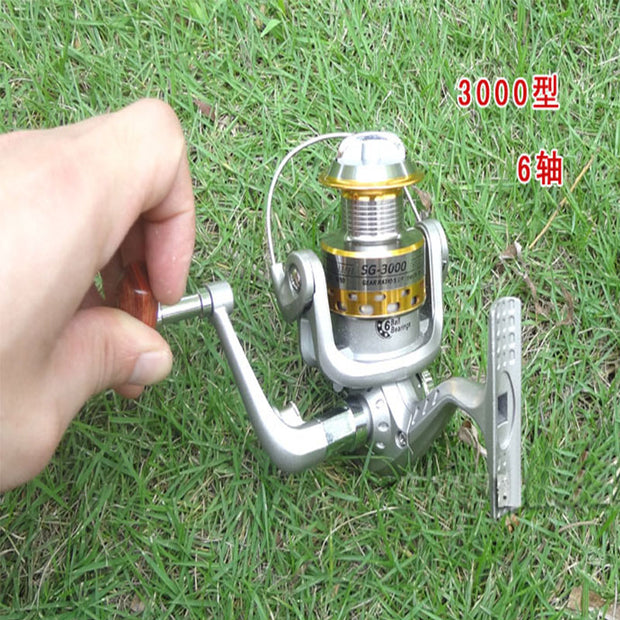 Metal Spinning Reel SG-3000A 5.1:1 6BB 1pcs Collapsible Portable Baitcasting Fishing Reels Pike Carp Isca Pesca Fishing Tackles