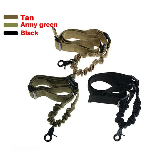 Military Army Tactical Rifle 1 Point Sling Strap System CS Combat Gear Adjustable Nylon One Point Gun Sling For Airsoft Pistol